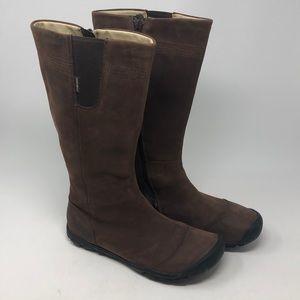 KEEN Brown Delancy Nubuck Waterproof Boots